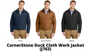 Cornerstone Duck Cloth Work Jacket J763 Colors and styles