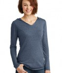 District Made Ladies long sleeve hoodie style DM139L - navy frost