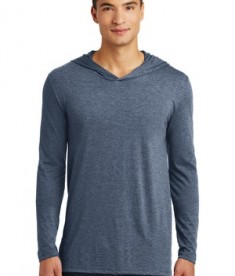 District Made Men's Perfect Tri Long Sleeve Hoodie - Navy Frost