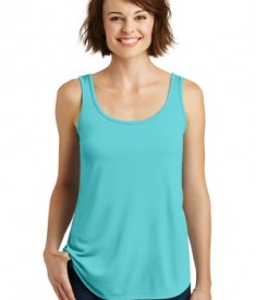 District Made - Ladies Drapey Tank Style DM414 - Aqua Ice