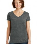 District Made Ladies Cosmic Relaxed V-Neck Tee Style DM465 - Black/Grey Cosmic