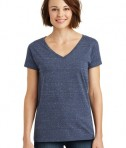District Made Ladies Cosmic Relaxed V-Neck Tee Style DM465 - Navy/Royal Cosmic