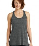 District Made Ladies Cosmic Twist Back Tank Style DM466 - Black/Grey Cosmic
