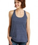 District Made Ladies Cosmic Twist Back Tank Style DM466 - Navy/Royal Cosmic