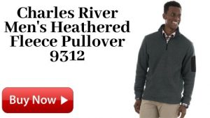 For Sale Charles River Men's Heathered Fleece Pullover 9312