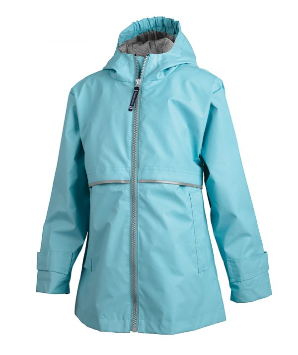 Girls' New Englander Rain Jacket (4099) -Auqa:Reflective