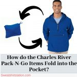 How do the Charles River Pack-N-Go Items Fold into the Pocket?