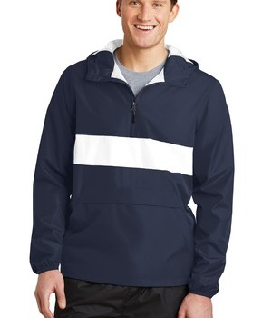 Sport-Tek Zipped Pocket – True Navy/White