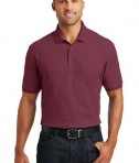 Port Authority Core Classic Pique Polo w/Pocket Style K100P - Model - Burgundy