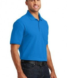 Port Authority Core Classic Pique Polo w/Pocket Style K100P - Model - Coastal Blue