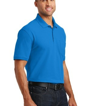 Port Authority Core Classic Pique Polo w/Pocket Style K100P – Model – Coastal Blue