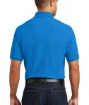 Port Authority Core Classic Pique Polo w/Pocket Style K100P - Back - Coastal Blue
