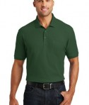 Port Authority Core Classic Pique Polo w/Pocket Style K100P - Model - Deep Forest Green