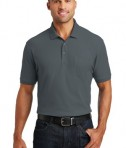 Port Authority Core Classic Pique Polo w/Pocket Style K100P - Model - Graphite