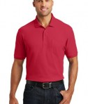 Port Authority Core Classic Pique Polo w/Pocket Style K100P - Model - Rich Red
