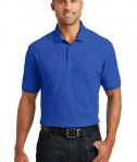 Port Authority Core Classic Pique Polo w/Pocket Style K100P - Model - True Royal