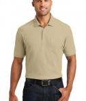 Port Authority Core Classic Pique Polo w/Pocket Style K100P - Model - Wheat