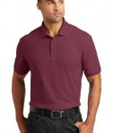Port Authority Core Classic Pique Polo Style K100 - Model - Burgundy