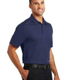 Port Authority Pinpoint Mesh Polo - model - True Navy - Front
