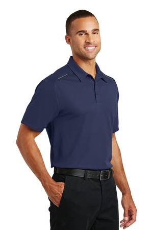 Port Authority Pinpoint Mesh Polo – model – True Navy – Front