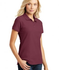 Port Authority Ladies Core Classic Pique Polo Style L100 - Model - Burgundy