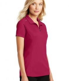 Port Authority Pinpoint Mesh Zip Polo - Dark Fuchsia - model