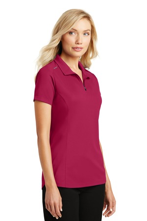 Port Authority Pinpoint Mesh Zip Polo – Dark Fuchsia – model