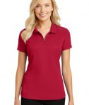 Port Authority Pinpoint Mesh Zip Polo - Rich Red - model
