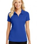 Port Authority Pinpoint Mesh Zip Polo - True Royal - model