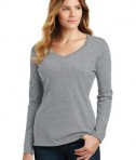 District Ladies Fan Favorite V-neck Tee - Athletic Heather