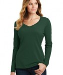 District Ladies Fan Favorite V-neck Tee - Forest Green