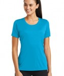 Sport-Tek® Ladies PosiCharge® Tough Tee - Atomic Blue - Model
