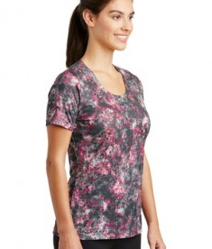 Sport-Tek Ladies Mineral Freeze Tee - front - Pink Raspberry
