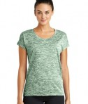 Sport-Tek Ladies PosiCharge® Electric Heather Tee - Forest Green Electric
