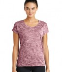 Sport-Tek Ladies PosiCharge® Electric Heather Tee - Maroon Electric