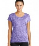 Sport-Tek Ladies PosiCharge® Electric Heather Tee  - Purple Electric