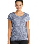 Sport-Tek Ladies PosiCharge® Electric Heather Tee - True Navy Electric