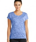 Sport-Tek Ladies PosiCharge® Electric Heather Tee - True Royal Electric