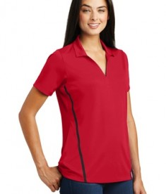 Sport-Tek Ladies Contrast PosiCharge Tough Polo Style LST620 - Deep Red/Black - Model