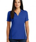 Sport-Tek Ladies Contrast PosiCharge Tough Polo Style LST620 - True Royal/Black - Model