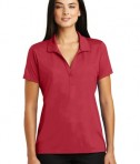 Sport-Tek Ladies Embossed PosiCharge Tough Polo - Deep Red - Model