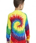 Port & Company Youth Long Sleeve Tie-Dye Tee - Back - Rainbow