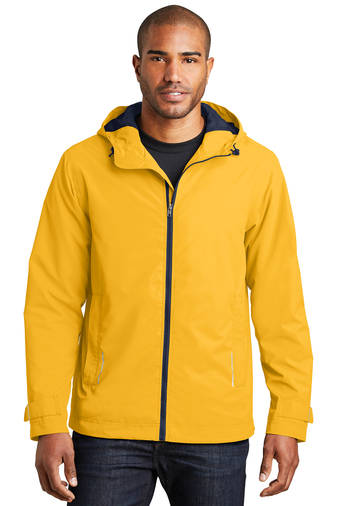 Port Authority Northwest Slicker Rain Jacket J7710 Model Yellow