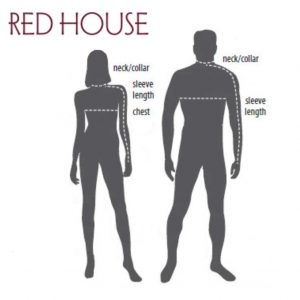 Red House Apparel Sizes Figures