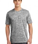 Sport-Tek PosiCharge® Electric Heather Tee Style ST390 - Black Electric