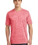 Sport-Tek PosiCharge® Electric Heather Tee Style ST390 - Deep Red Electric