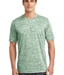 Sport-Tek PosiCharge® Electric Heather Tee Style ST390 - Forest Green Electric