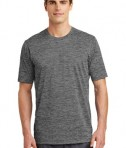 Sport-Tek PosiCharge® Electric Heather Tee Style ST390 - Grey-Black Electric