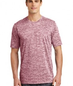 Sport-Tek PosiCharge® Electric Heather Tee Style ST390 - Maroon Electric
