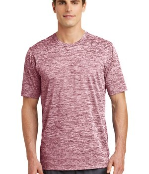 Sport-Tek PosiCharge® Electric Heather Tee Style ST390 – Maroon Electric